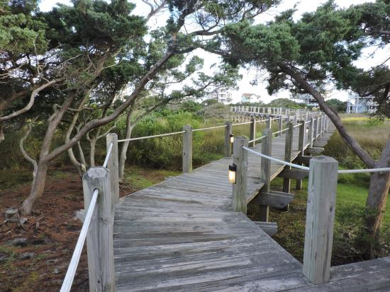 The Villas of Hatteras Landing: park of lovely marsh walk