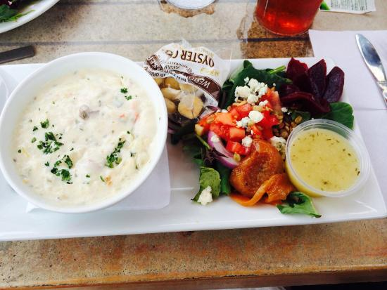 Michael S Seafood Restaurant Fish Pond World Famous Chowder And Grilled Beet Salad