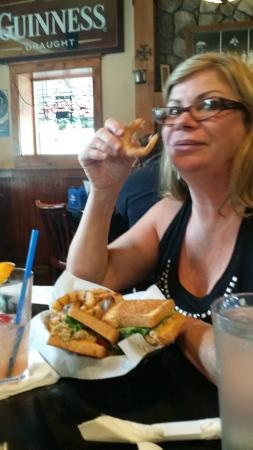 Sully's Pub and Grill: Does Nanc look overwhelmed with all that deliciousness?
