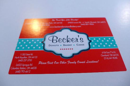 Becker's Donuts and Bakery: Logo