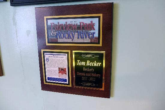 Becker's Donuts and Bakery: award?