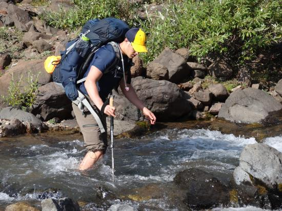 McCarthy, AK: Some river crossings...a little cold, but a ton of fun...filled water bottles up first!