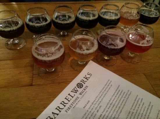 Barrelworks at Firestone Walker Brewery: Samples