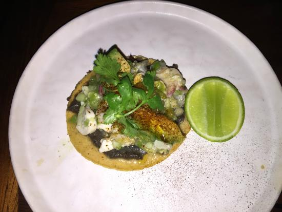 Manta at The Cape, a Thompson Hotel: Seafood Tostada, Cucumber Pico de Gallo