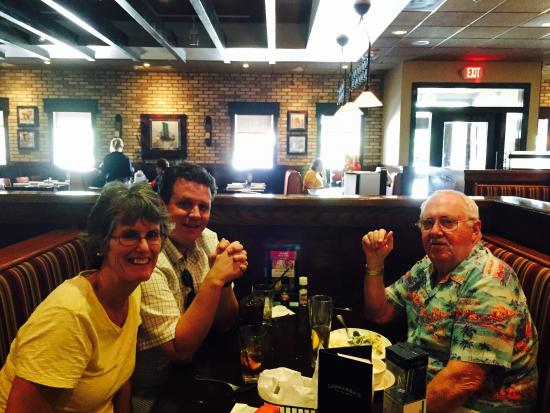 Carrabba's Italian Grill: My son and husband and I enjoying lunch at Carraba's