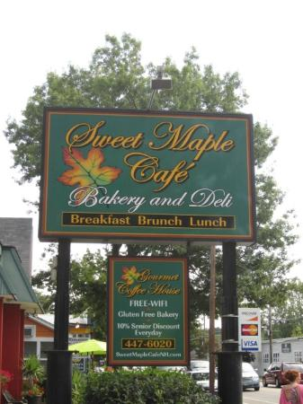 Sweet Maple Cafe Sign