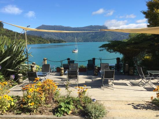 Te Mahia Bay Resort: View from the hotel deck