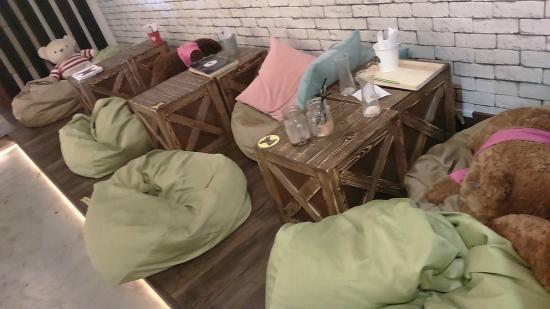 TBC Melaka  Teddy Bear Cafe: Bean Bags Area
