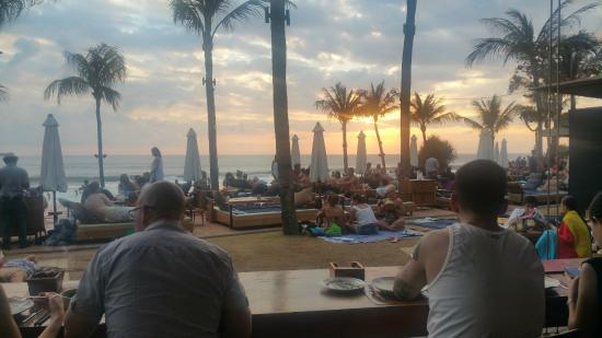 Potato Head Beach Club: Sunset view