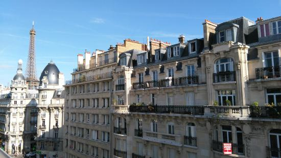 Passy Eiffel Hotel: View from top floor