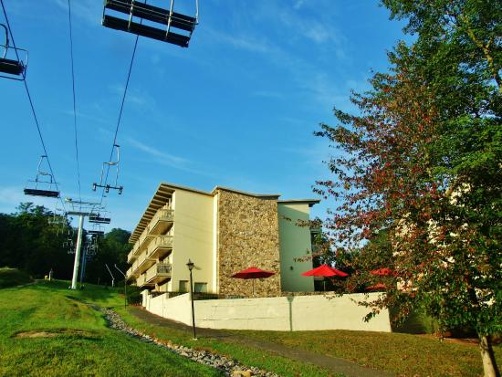 The Pines: The three buildings are located next to the sky lifts