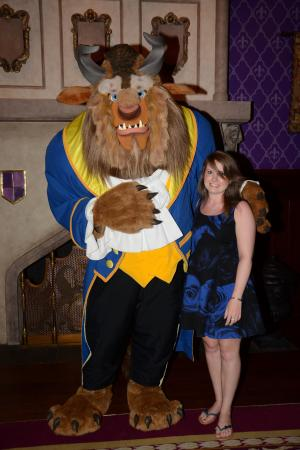 Be Our Guest: Picture with the beast at the end of the meal.