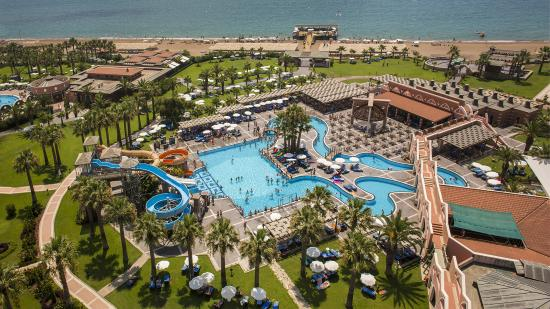 Club Mega Saray: General view from our pool and garden