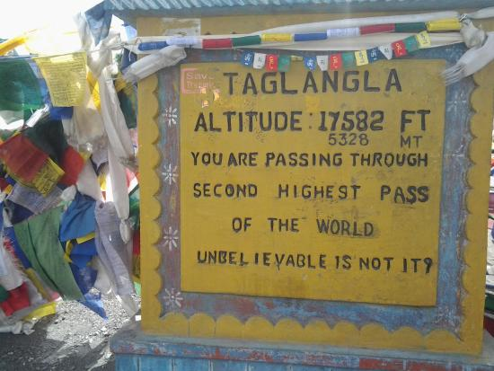 Called the Taglang-La pass on maps and signboards - Review of ...