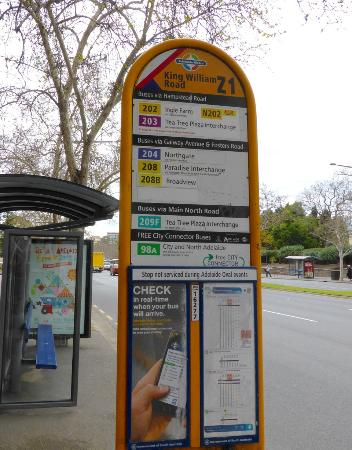 98a bus stop on king william road picture of adelaide for 108 north terrace adelaide sa 5000