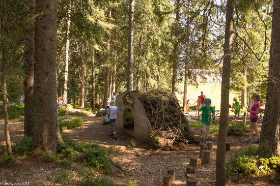 Sorenberg, Suiza: Ein Teil des Pfades ist im Wald