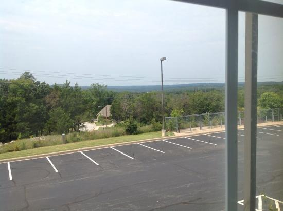 Branson Towers Hotel: View from Room Window-Ozark Hills