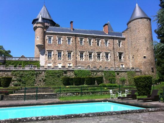 Chateau de Busset: Vom Pool
