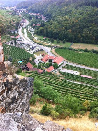 Senftenberg, Avusturya: Hotel von der Burg aus