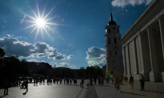 Vilnius Old Town: cathedral squere