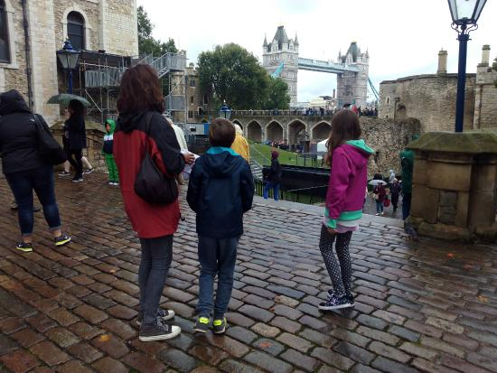 Enjoying the view from Tower of London
