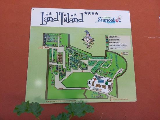 Moliets et Maa, Frankrike: plan camping