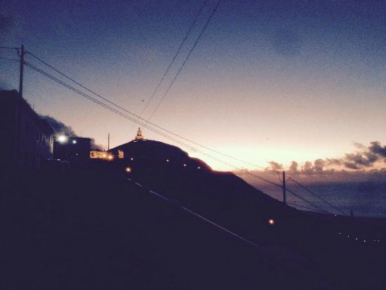 El Sitio: Sunset from the street