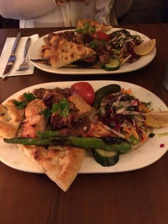 Mixed hot meze platter mixed grills picture of for Anatolia cuisine brighton