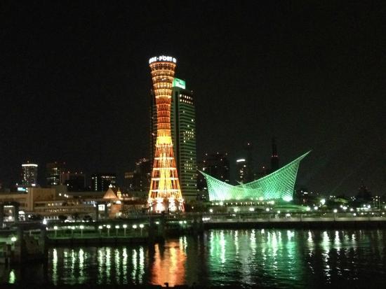 Kobe Harborland: ยามค่ำคืน