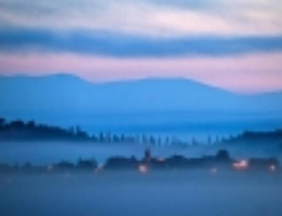 Castiglione della Valle, Italia: morning light