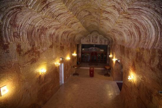 Serbian Orthodox Church: underground area from upper gallery