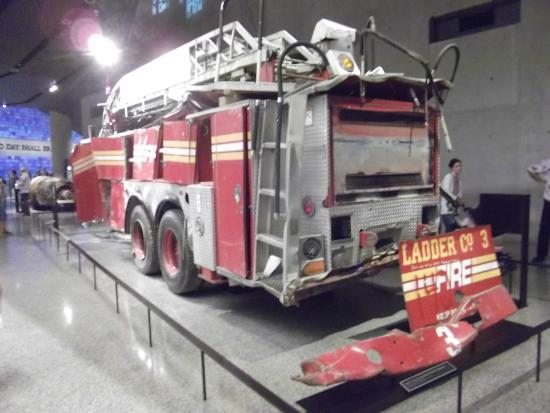 9/11 Memorial: Wrecked Fire Engine from the terrorist attack