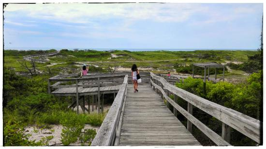 Fire Island, NY: If you go straight to beach the walk is actually a lot shorter