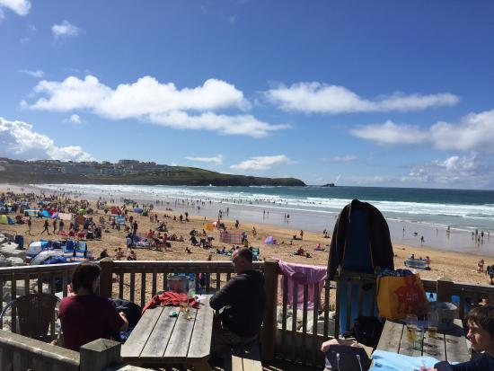 Fistral Beach: view from the pub