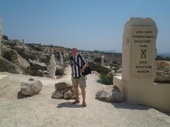 Ayia Napa Sculpture Park: Me at the entrance to the Sculpture Park