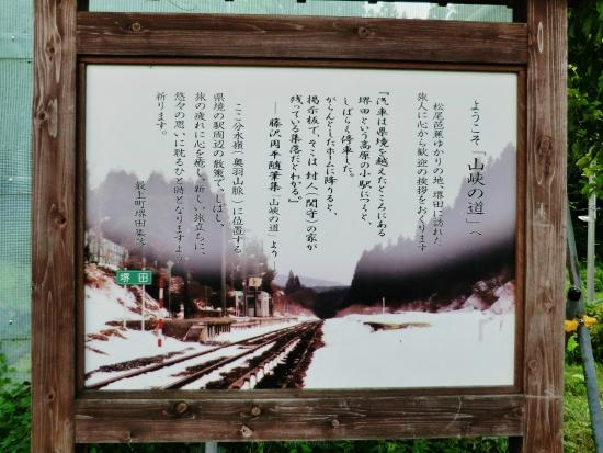 Sakaida Bunsuirei: 堺田分水嶺 冬の堺田駅