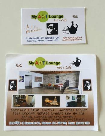 My Art Lounge: Business card