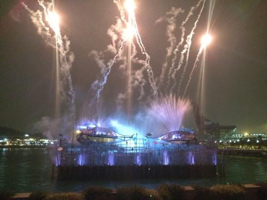 Crane Dance at Resort World Sentosa: Fireworks