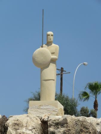 Ayia Napa Sculpture Park: A stone warrior