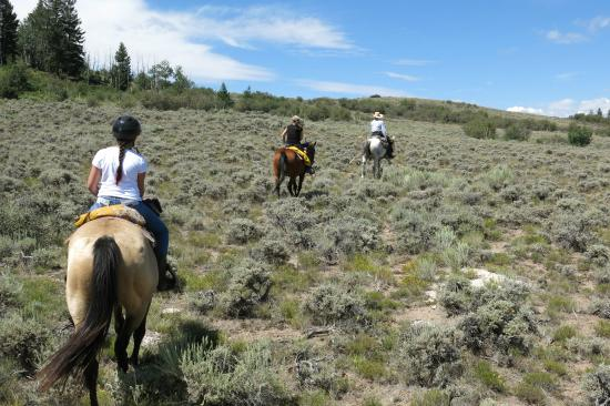 Rusty Spurr Ranch: On the trail on the way back.