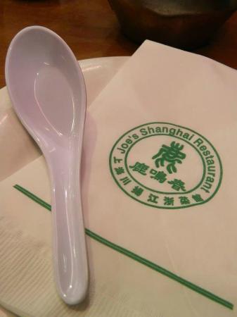 Joe's Shanghai: Detalle de los cubiertos