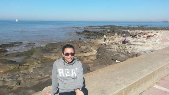 Rambla de Montevideo: vista para rio de la plata