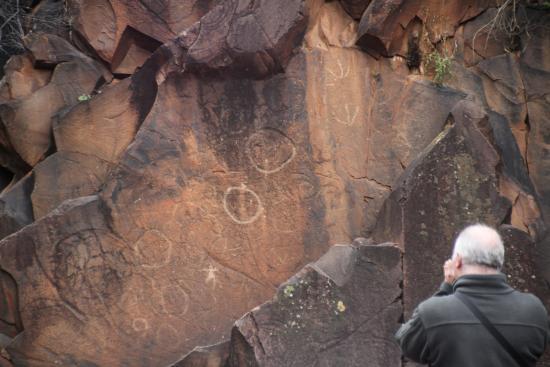 Flinders Ranges National Park: Aboriginal glyphs in Sacred Canyon