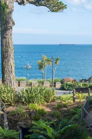 Princess Pavilion and Gyllyngdune Gardens: view to the sea