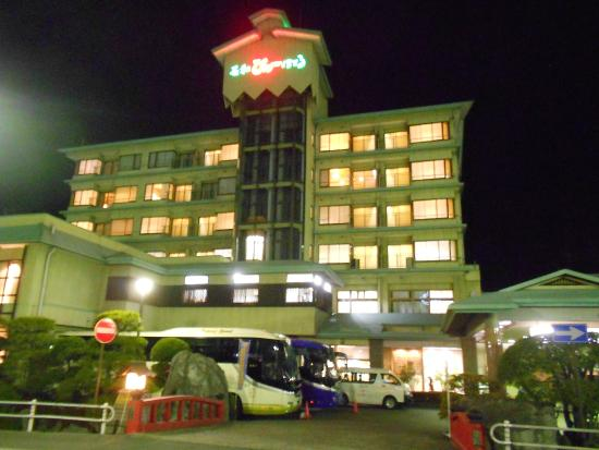 Isawa View Hotel: ด้านหน้าของโรงแรม บรรยากาศดีสุด ๆ
