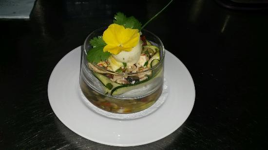 Restaurant de l'hotel le Laurier: Salade de Poulpe comme le fait Mme Riva