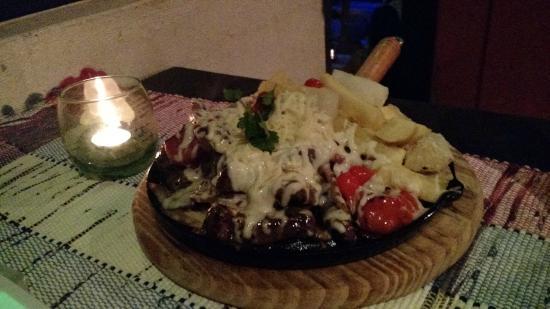 Encontro Marcado Restaurante: Chapa de picanha ao molho gorgonzola