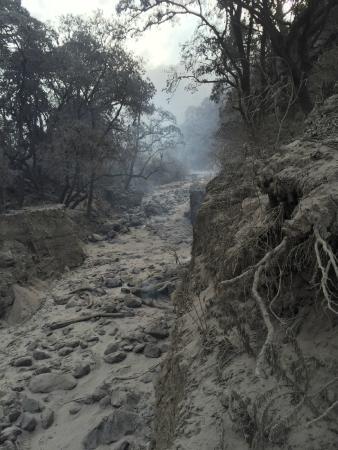 Volcan de Fuego: flujos de lava