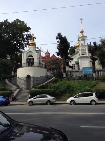 Dormition of the Mother of God: Общий вид с колокольней с противоположной стороны Светланской улицы