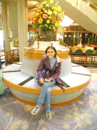Isawa View Hotel: ถ่ายที่ล็อบบี้ก่อนกลับ